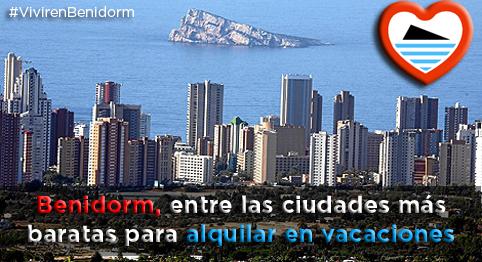 Benidorm  entre las ciudades más baratas para alquilar en vacaciones