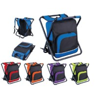 Cooler Bag Backpack and Folding Chair All In One - Camping ...