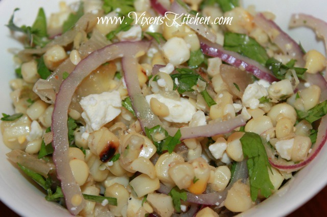Roasted Corn and Endive Salad - Vixen's Kitchen