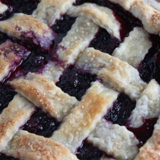Fresh Huckleberry Pie