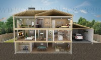 3D Building Cutaway Renderings - VIZ Graphics