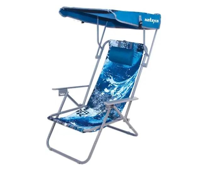 Kelsyus Reclining Beach Canopy Folding Backpack Chair