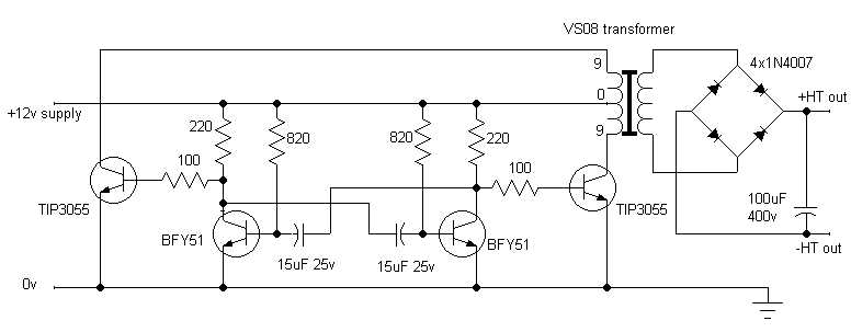 schematic diagram of the simon circuit
