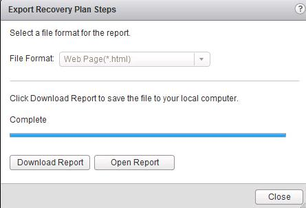 How to Export VMWare SRM Recovery Plan Steps