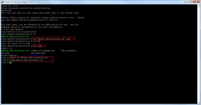 SSH Host FDM Uninstaller