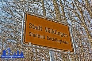 Das neue Ortsschild aus Richtung Völklingen © Andreas Hell