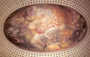 Das Fresko in der ev. Versöhnungskirche (Foto: Stadt Völklingen)