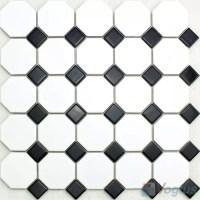 Black White Ceramic Mosaic - Voglus Mosaic