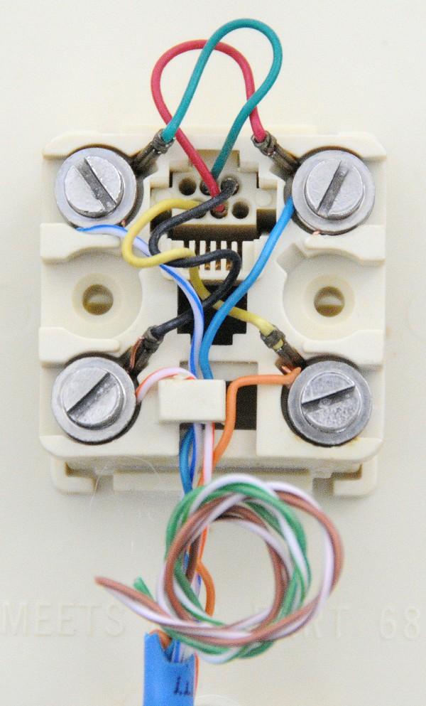modular telephone jack wiring installation