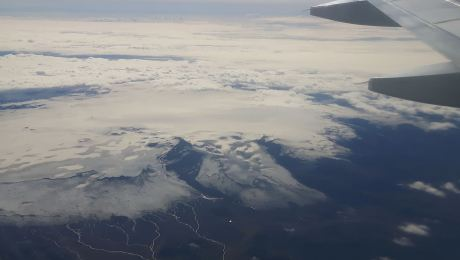 View over Katla photographed by Dagur Bragason today. Used by kind permission by the photographer.