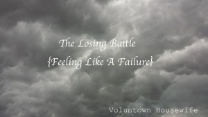 Failure-Losing battle