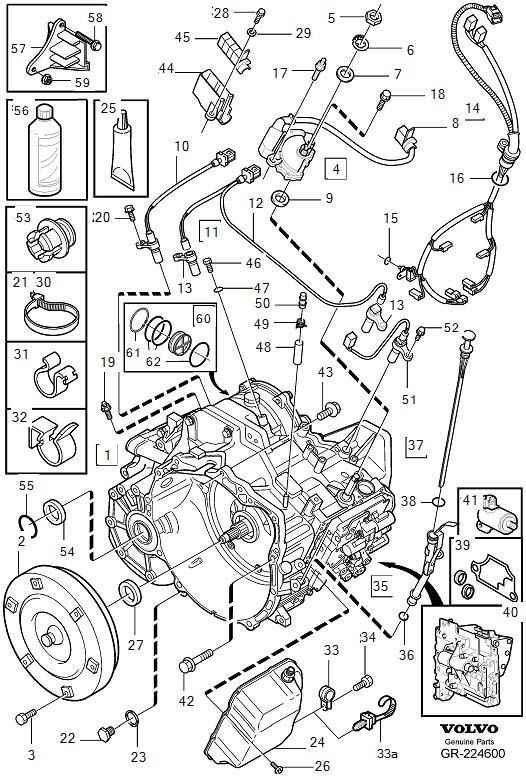 volvo 850 manual transmission diagram