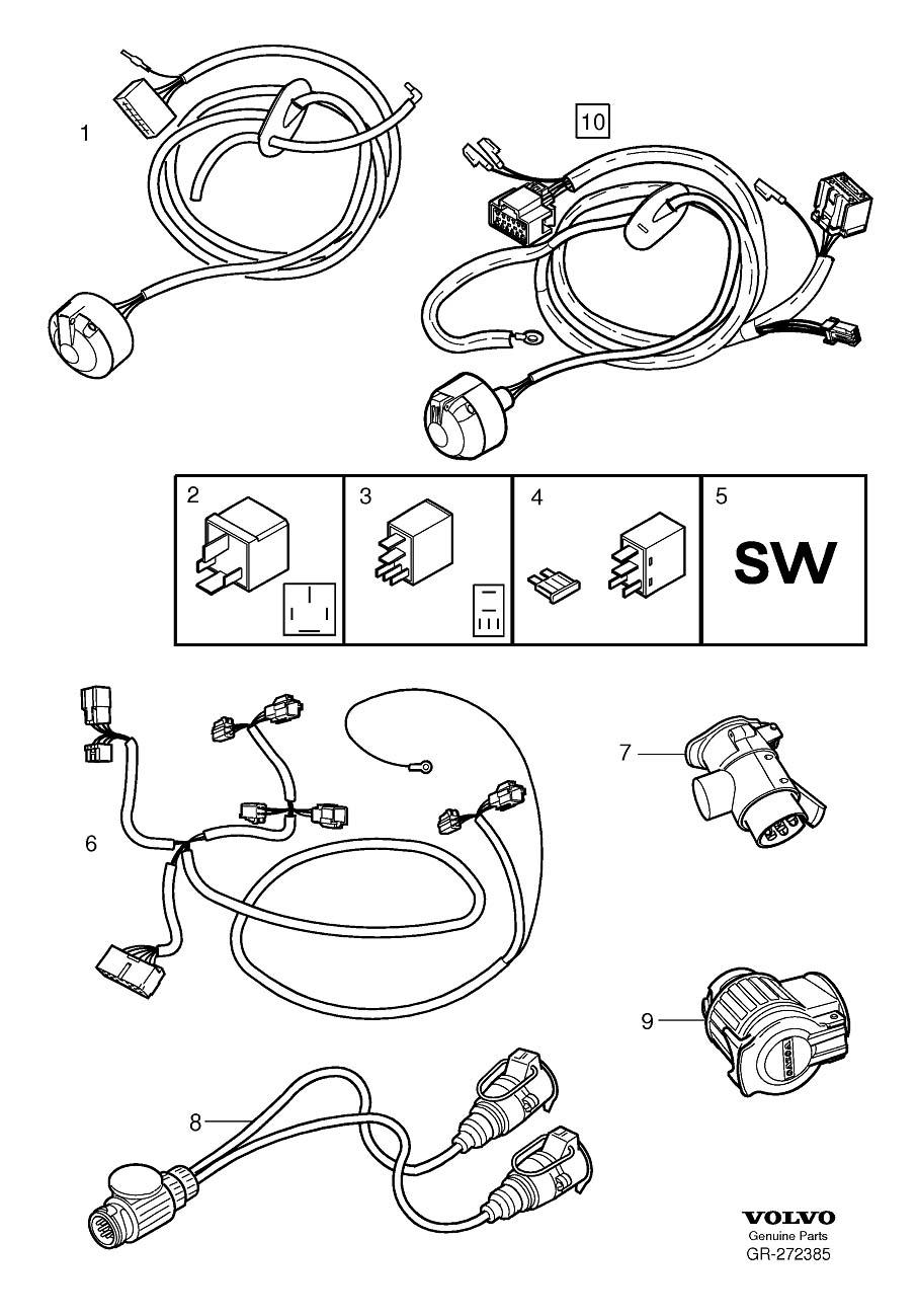2004 volvo xc90 tail light wiring harness
