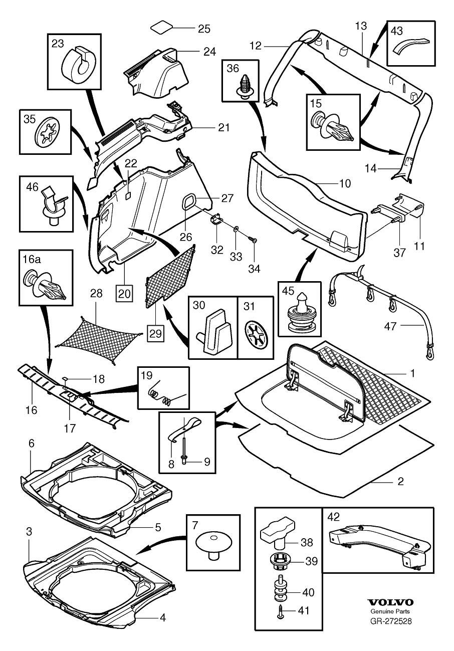 volvo 240 dl Motor diagram