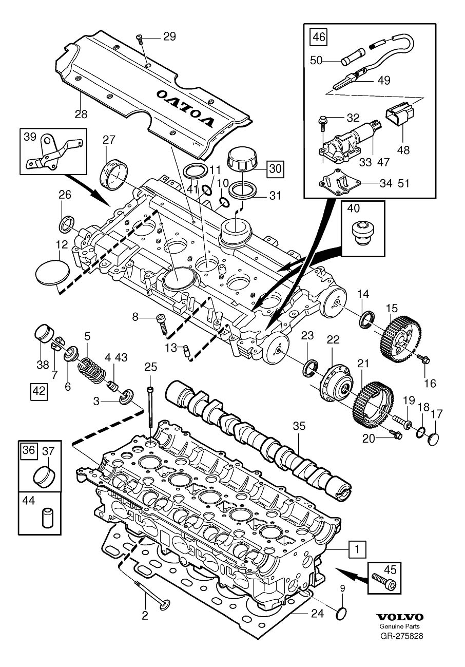 2005 volvo s60 Motordiagramm