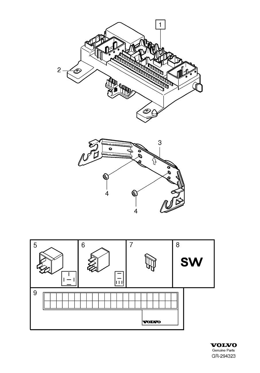 volvo c30 2009 fuse box diagram