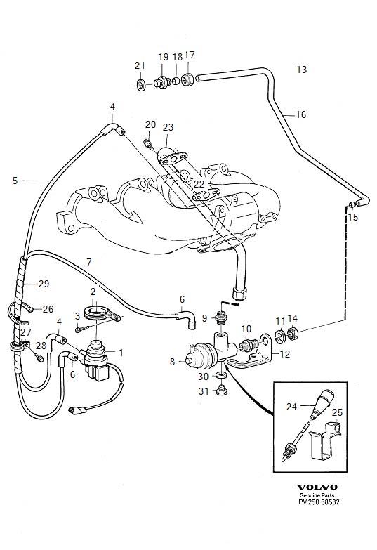volvo 850 exhaust diagram