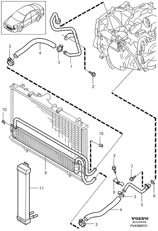 volvo v70xc radiator diagram