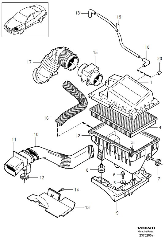 Volvo 850 Parts Diagram Wiring Schematic Diagram