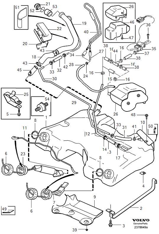 volvo fuel pump diagram
