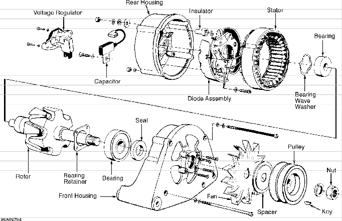 volvo 850 alternator wiring