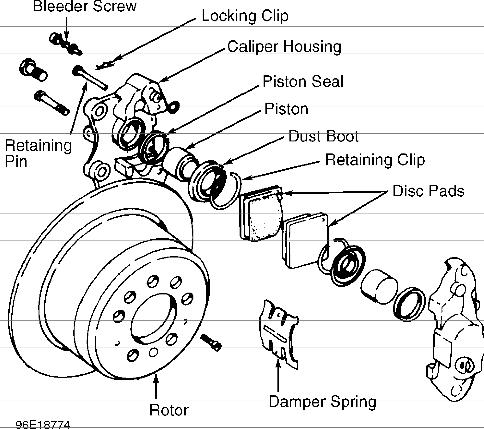 volvo v70 rear brake diagram