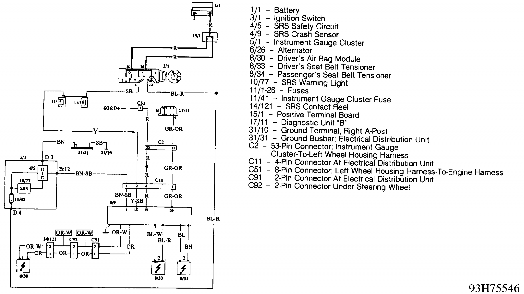 fig 14 air bag system wiring diagram 960 courtesy of
