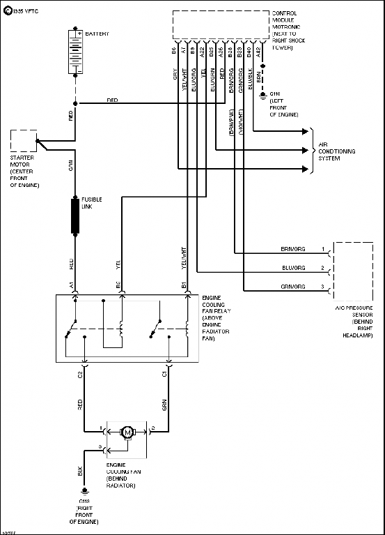 volvo cooling fan relay wiring diagram