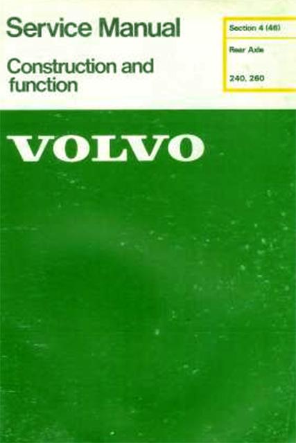 Volvo 240  260 service manual Volvotips