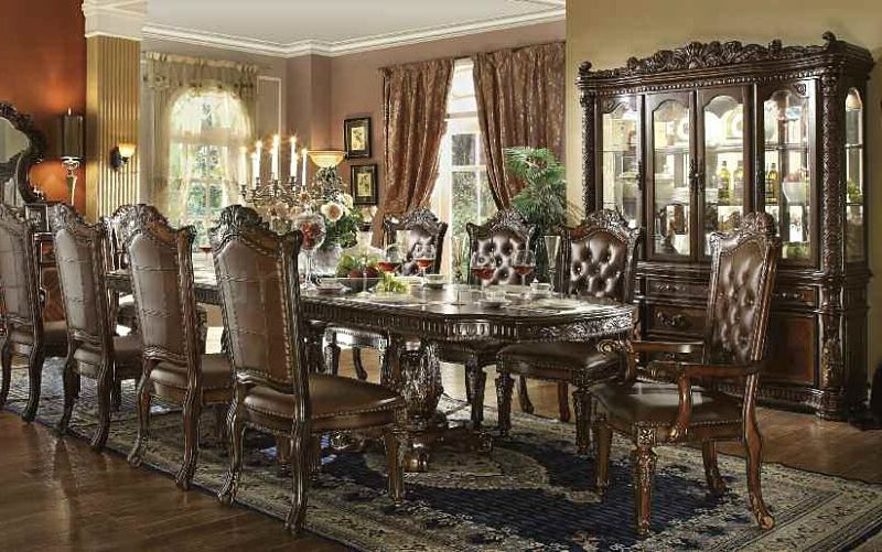 Von Furniture Vendome Large Formal Dining Room Set In Cherry