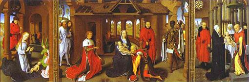 Adoración de los Reyes Magos - Hans Memling