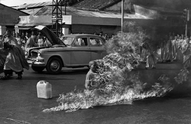 Auto inmolación de monje budista