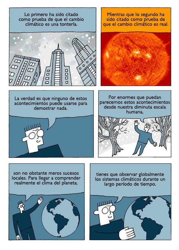 El cambio climático en comic