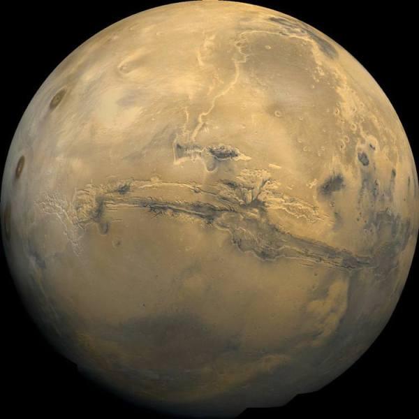 Valle Marinaris, Marte
