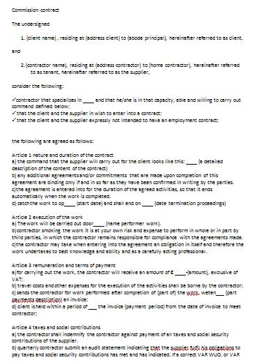 Sample Contract Extension Letter Ldc Letterhead Voorbeeld Overeenkomst Engels