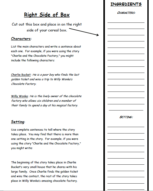 Book report form for  rd grade
