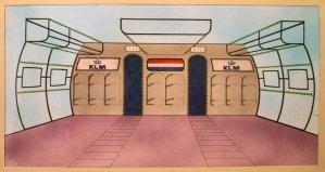 Achterdoek voor Sterrenshow (VARA 1984-1986), decor: Hub Berkers. Collectie Hub Berkers / NIBG