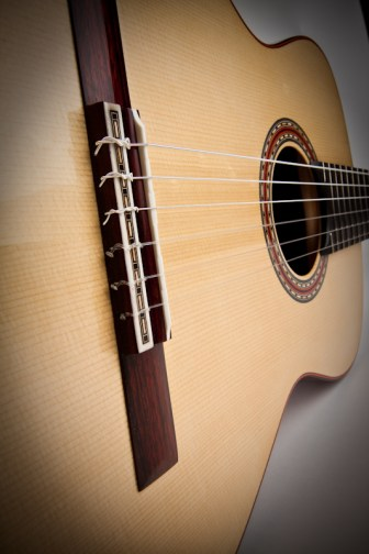 Traditional Classical Guitar, Bridge Detail