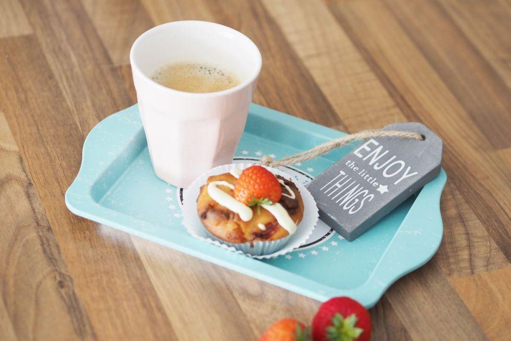 senseo viva cafe kleine auszeit erdbeermuffins