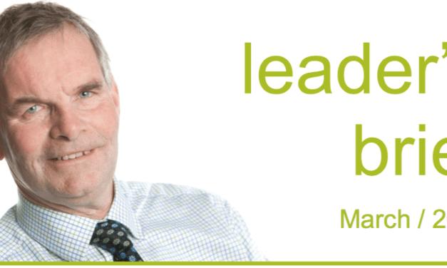 Leader's Brief – March 2016