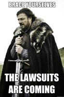 The lawsuits are coming