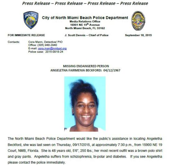 Missing and Endangered Person