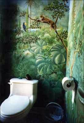 Deco Wallpaper 3d D 233 Co Wc Jungle Exemples D Am 233 Nagements