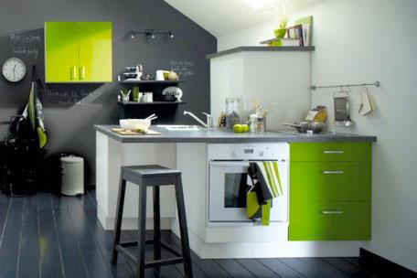Décoration cuisine couleur verte - Exemples d\u0027aménagements