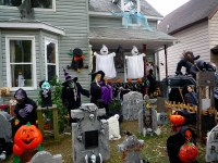 Dcoration halloween maison usa - Exemples d'amnagements