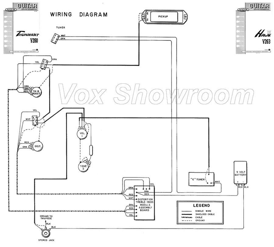 The VOX Showroom - Vox V260 Thunderjet Guitar, V243 Hawk IV Bass