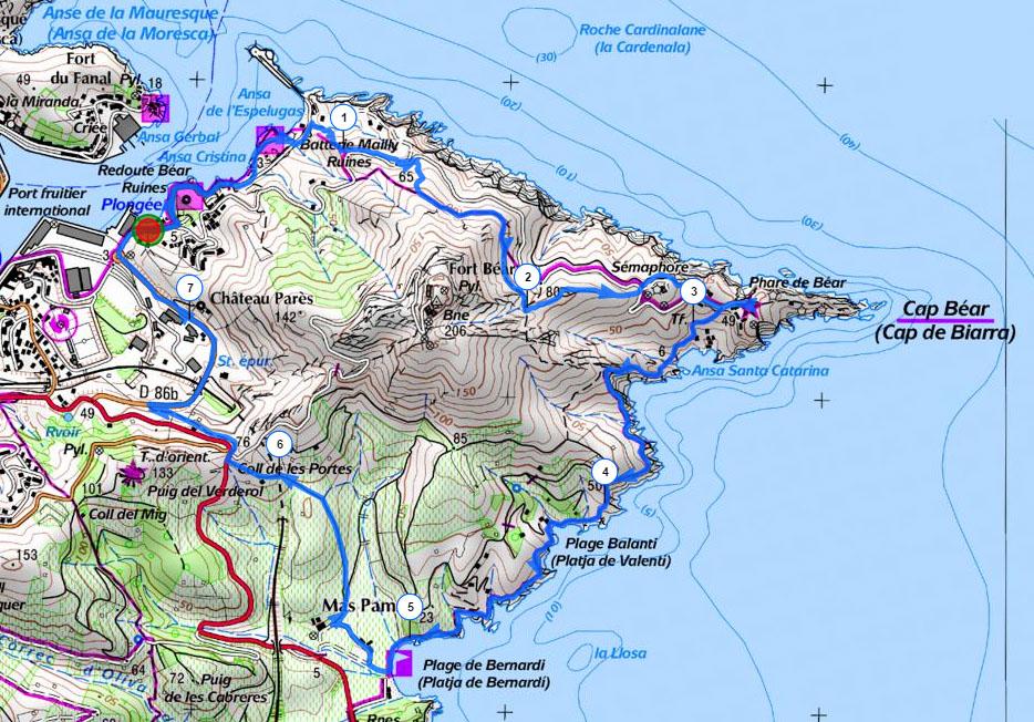 Randonnee-Cap Bear-Carte