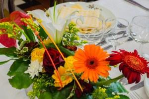 Nous accordons grand soin à la décoration de nos tables.