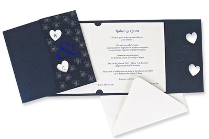 Invitación de boda Ref100206 - IMPRESION GRATIS - Invitaciones de