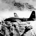 VP-4 (DB 3) P2V-2 in-flight over Alaska, circa 1948.